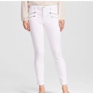 High Rise Skinny white jeans